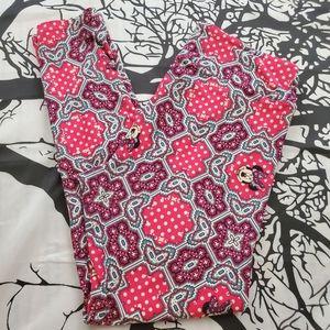LuLaRoe Disney Leggings TC Minnie Mouse Pink Grey